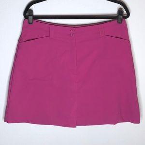 EUC NIKE GOLF Dri-Fit Skirt Skort Pink 12